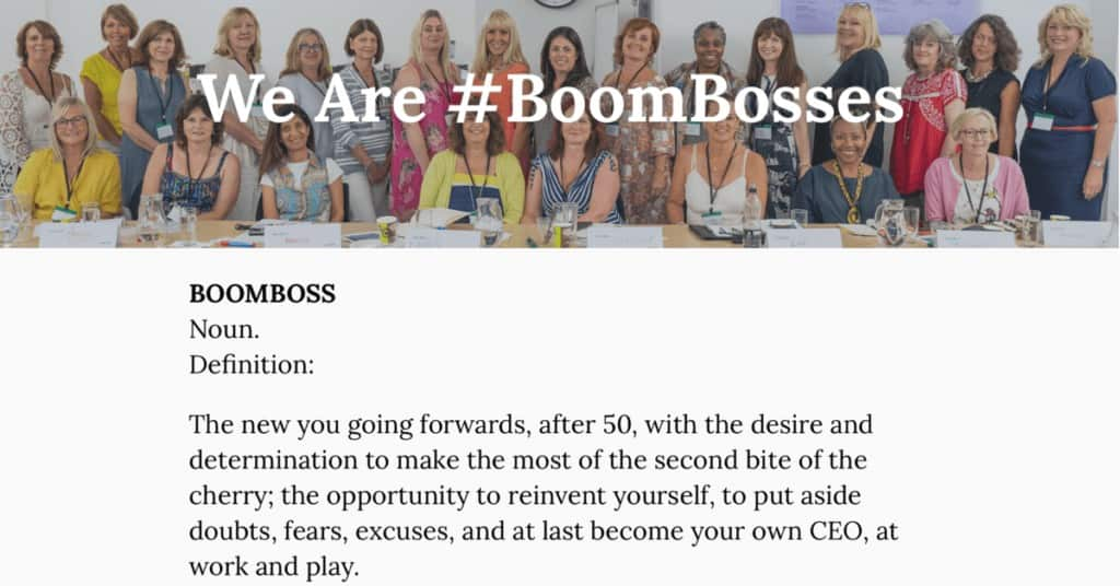 Ali Miles-Jenkins and the women of her BoomBoss group